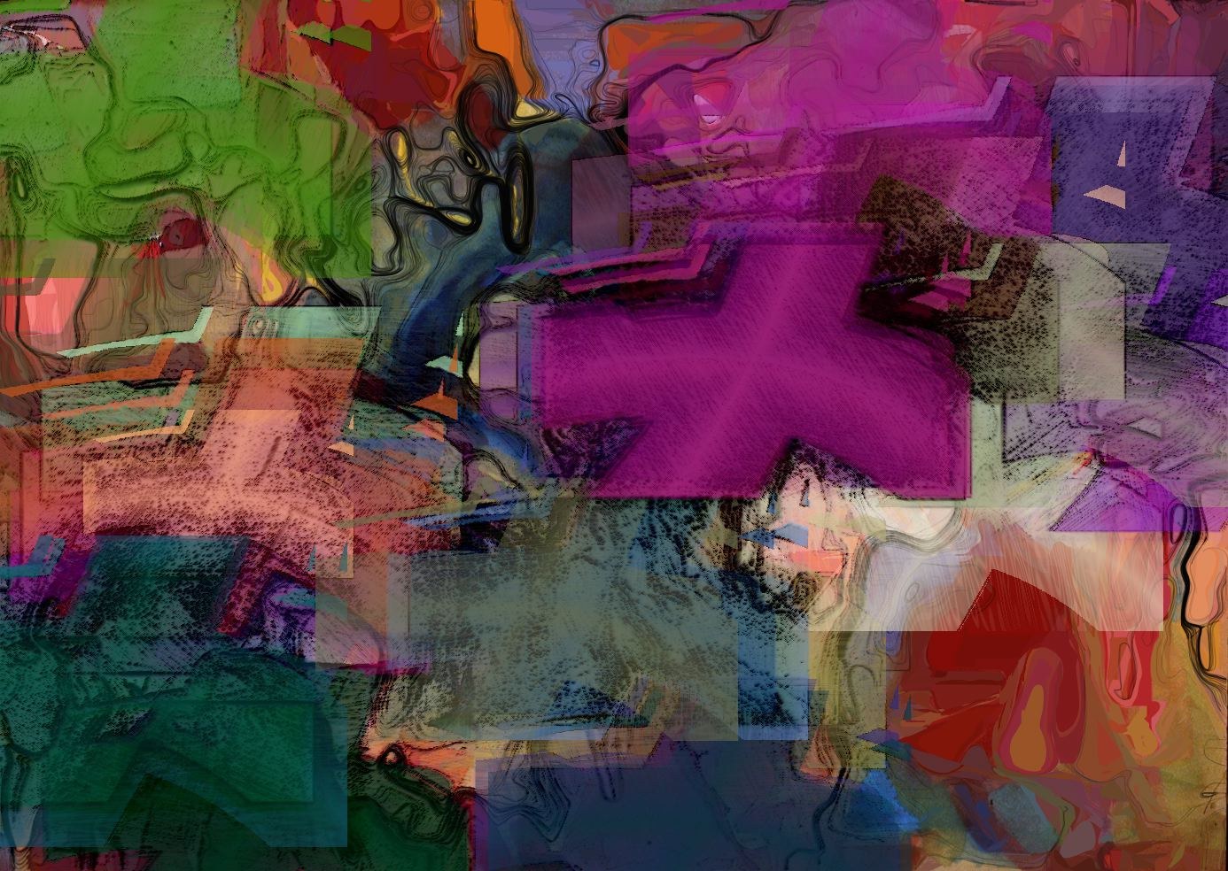 I just had fun with this digital painting using Painter and Photoshop. Abstract but nothing really deep about this work.