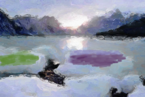 I used Studio Artist to alter the mood of a landscape.