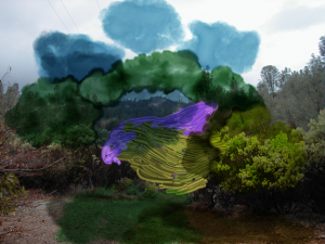 There are many natural mysteries in nature. This landscape is near where I lived in Redding, Ca. Enhanced Photo and Digital Painting.
