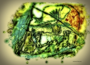 This digital work is a reworked original piece of art work of mine. I am interested in revisiting art that I did when I was a lot younger.