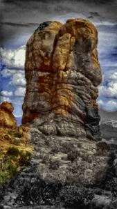Altered digital photo taken in Arches National Park in Utah