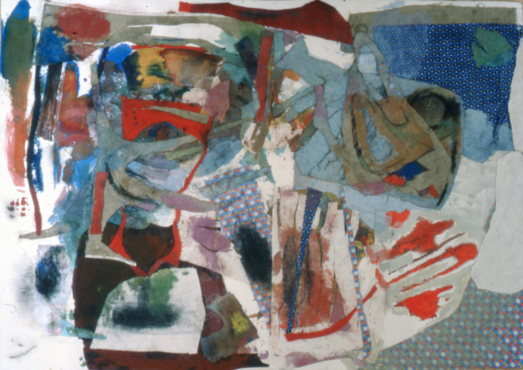 Experiments with Collage and Mixing Up Different Fabrics and Forms of Media.