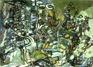 Influenced at that time by DuBuffet, Picasso.